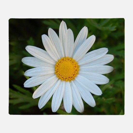 White Daisy Throw Blanket