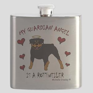 2-Rottweiler Flask