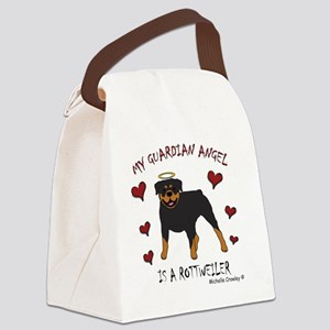 2-Rottweiler Canvas Lunch Bag