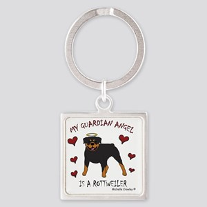2-Rottweiler Square Keychain