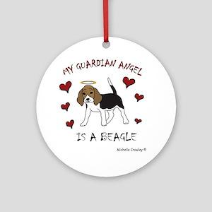 3-Beagle Round Ornament