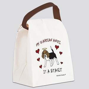 3-Beagle Canvas Lunch Bag