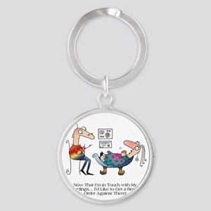 INNER FEELINGS by April McCallum Round Keychain