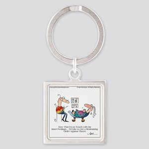 INNER FEELINGS by April McCallum Square Keychain