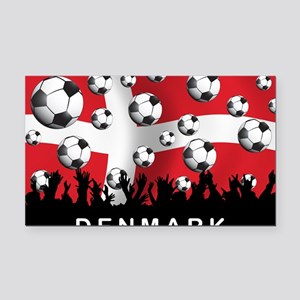 Denmark Football5 Rectangle Car Magnet