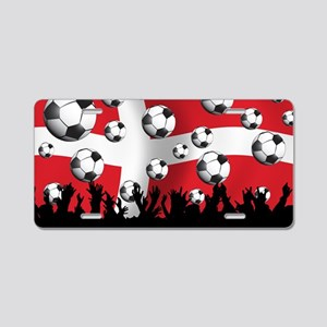 Denmark Football5 Aluminum License Plate