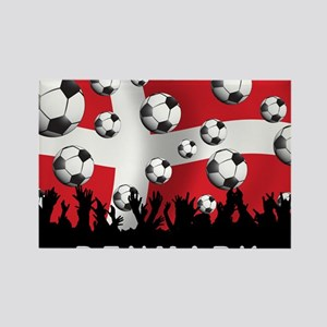 Denmark Football5 Rectangle Magnet