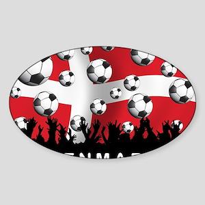 Denmark Football5 Sticker (Oval)