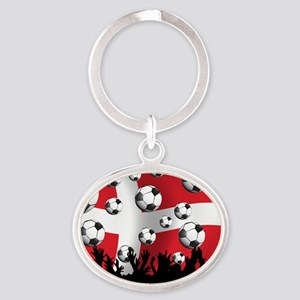Denmark Football5 Oval Keychain