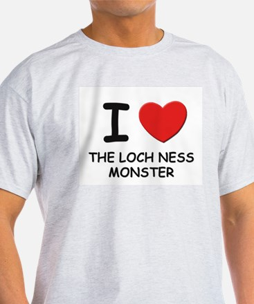 I love the loch ness monster Ash Grey T-Shirt