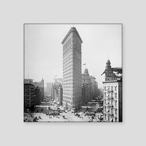 "Flatiron Building Square Sticker 3"" x 3"""