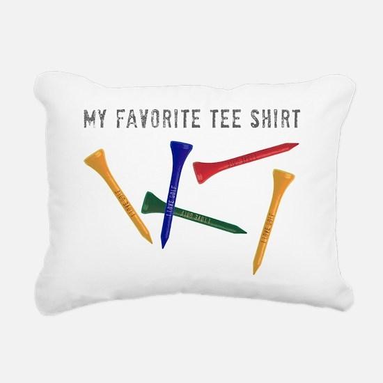 My Favorite Tee Shirt Rectangular Canvas Pillow