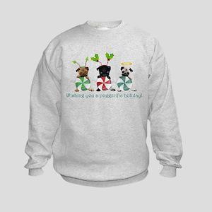 Have A Puggerific Holiday Kids Sweatshirt