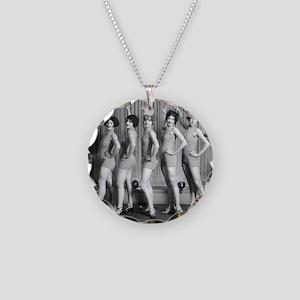 Chorus Girls Necklace Circle Charm