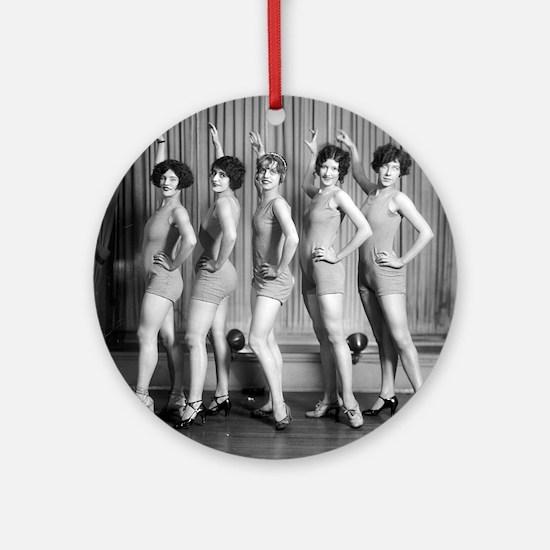 Chorus Girls Round Ornament