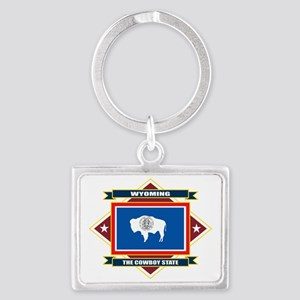 Wyoming diamond Landscape Keychain