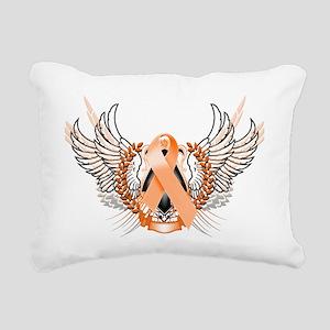 Awareness Tribal Orange Rectangular Canvas Pillow