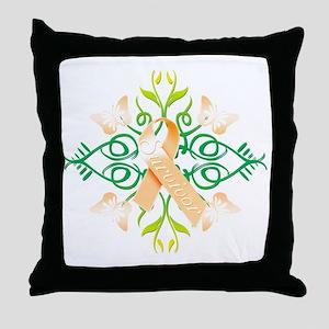 Orange Survivor Throw Pillow