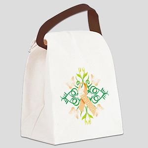 Orange Survivor Canvas Lunch Bag