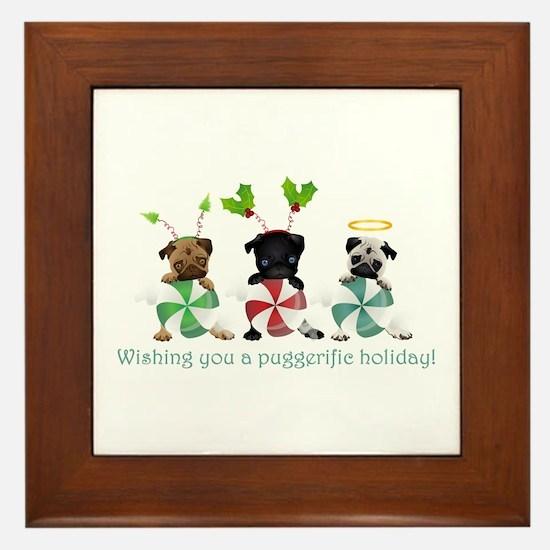Have A Puggerific Holiday Framed Tile
