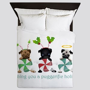 Have A Puggerific Holiday Queen Duvet