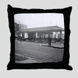 Amoco Gas Station Throw Pillow