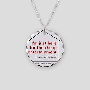 Cheap Entertainment Necklace Circle Charm