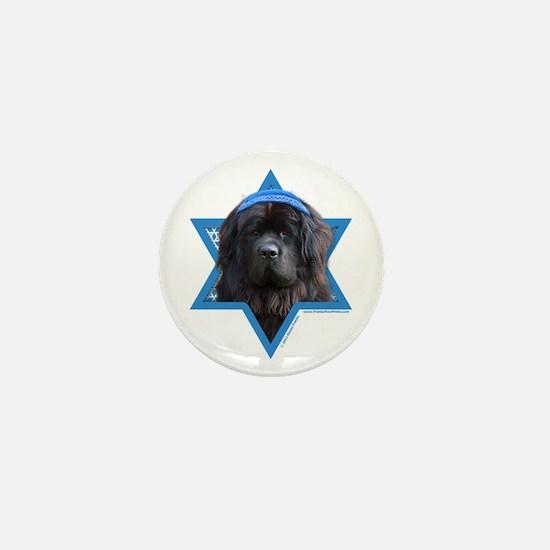 Hanukkah Star of David - Newfie Mini Button