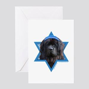 Hanukkah Star of David - Newfie Greeting Card