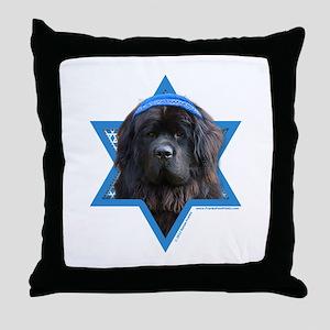 Hanukkah Star of David - Newfie Throw Pillow