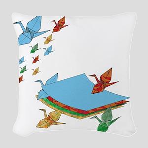 CranePaper-Flock10x10 Woven Throw Pillow