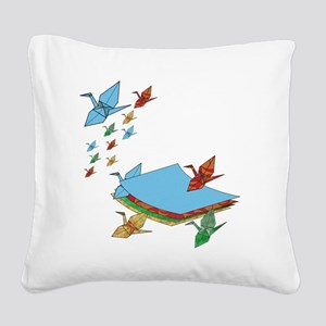 CranePaper-Flock10x10 Square Canvas Pillow