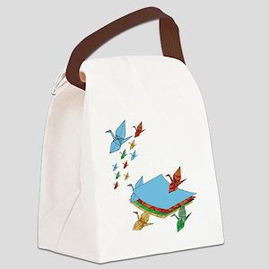 CranePaper-Flock10x10 Canvas Lunch Bag