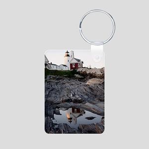 2-Pemaquid Reflection Prin Aluminum Photo Keychain