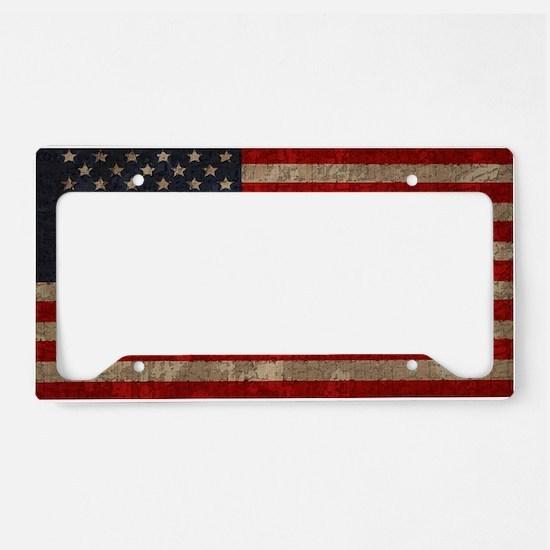 flag-pledge-OV License Plate Holder