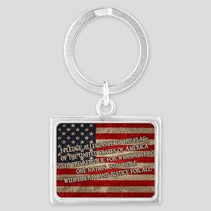 flag-pledge-OV Landscape Keychain