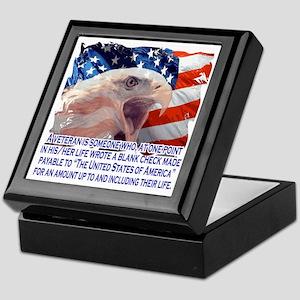 Veteran Blank Check Keepsake Box