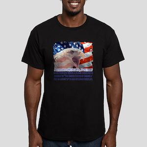 Veteran Blank Check Men's Fitted T-Shirt (dark)