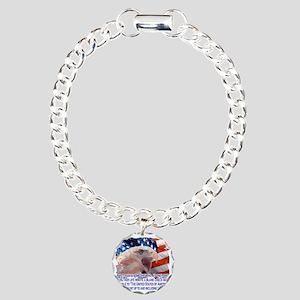 Veteran Blank Check Charm Bracelet, One Charm