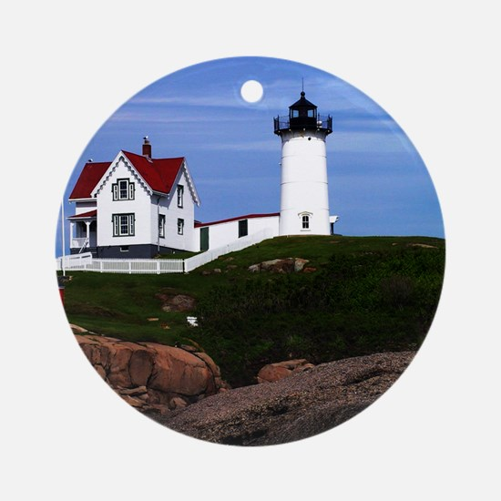 Nubble Print Round Ornament