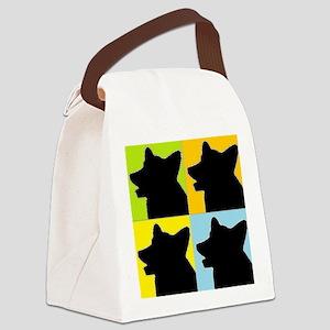 Corgi Heads Canvas Lunch Bag