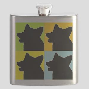 Corgi Heads Flask