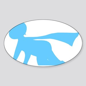 Active Baby Logo Blue Figure Only Sticker (Oval)