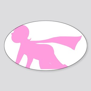 Active Baby Logo Pink Figure Only Sticker (Oval)