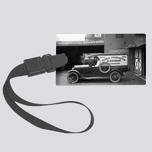Meat Market Delivery Truck Large Luggage Tag