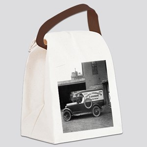 Meat Market Delivery Truck Canvas Lunch Bag