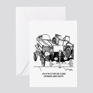 Life Before Towing Ordinances Greeting Card