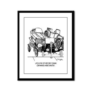 Life Before Towing Ordinances Framed Panel Print