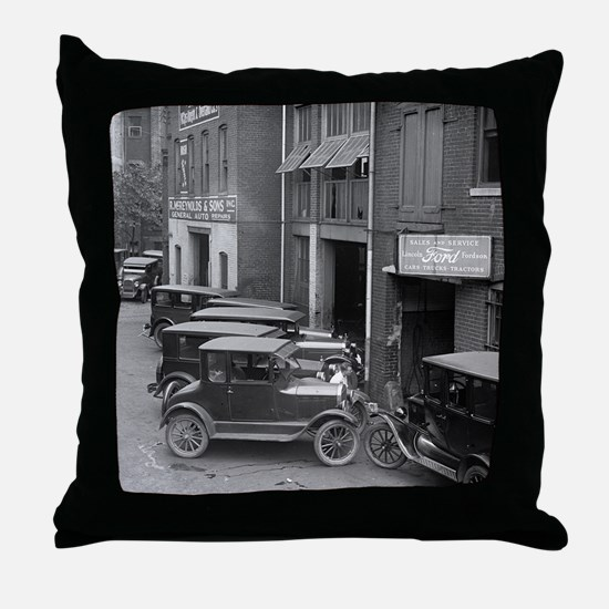 Ford Sales and Service Throw Pillow
