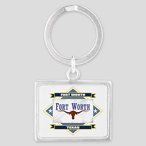 Fort Worth diamond Landscape Keychain